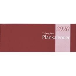 Almanacka Planeringsalender Vinröd 2v/Uppslag