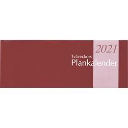Almanacka Planeringskalender Vinröd 2v/Uppslag