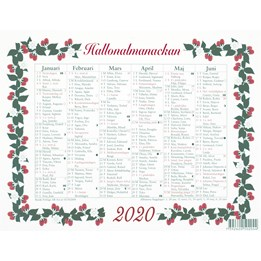 Almanacka Lilla Hallon Halvår/Sida