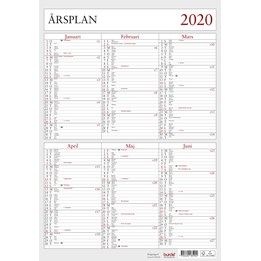 Almanacka Årsplan Halvår/Sida